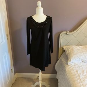 alyx black formal dress with beads